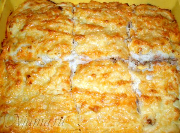 Картофельная запеканка с сальсой