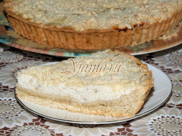 рецепт творожно бананового пирога