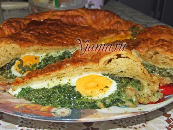 Пирог «Паскуалина» со шпинатом (мастер-класс)