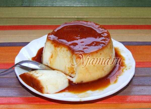 пудинг ванильный рецепт с фото