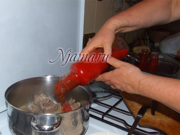 Как сделать соус томатный к макаронам