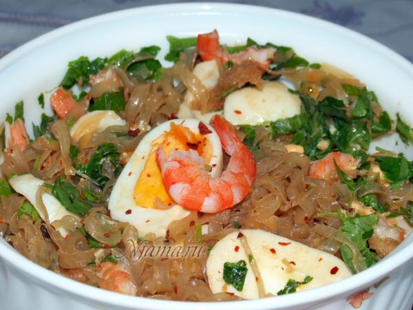 Острый салат в тайском стиле