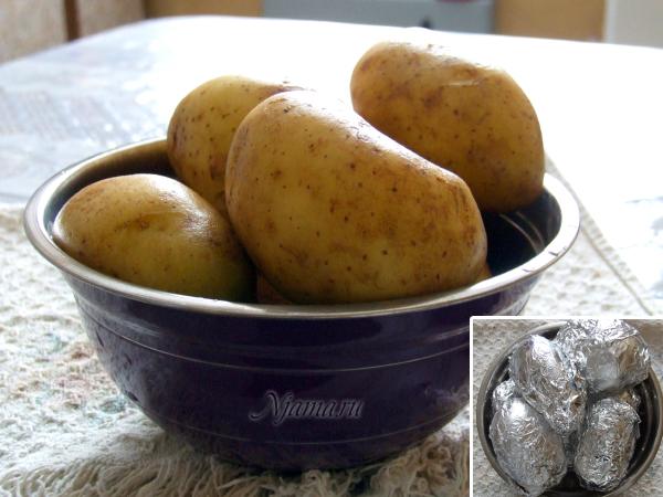 Молодой фаршированный картофель