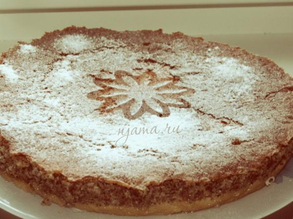 Маково-ореховый пирог без муки