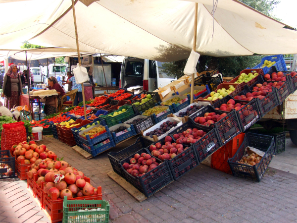 Турецкий рынок в Кадрие