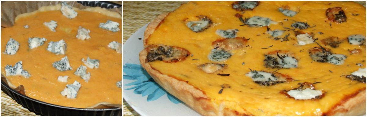 Тыквенный пирог с горгонзолой