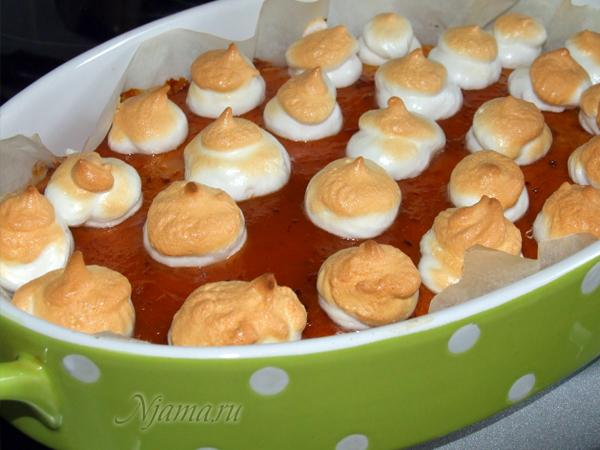 Пирог с лимонной меренгой