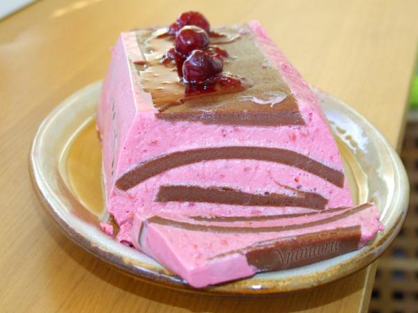 Желейный шоколадно-вишнёвый десерт