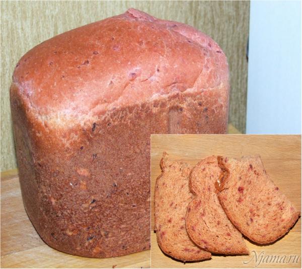 Свекольный хлеб с чесноком
