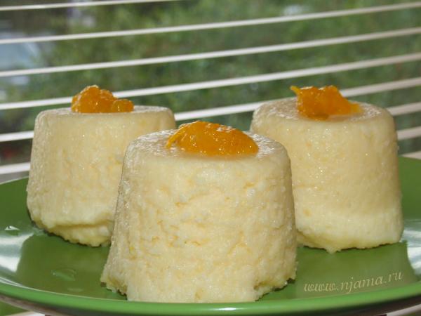Рисовый пудинг с лимоном