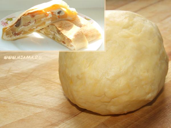Пресное тесто на сметане