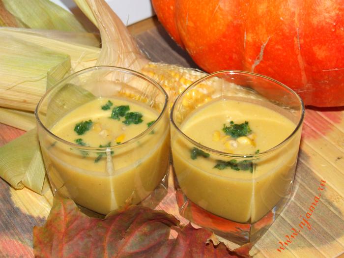 Тыквенно-кукурузный суп-пюре