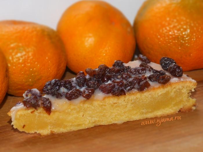 Влажный мандариновый пирог