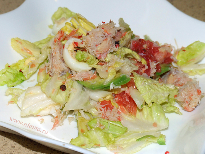 Салат с крабом